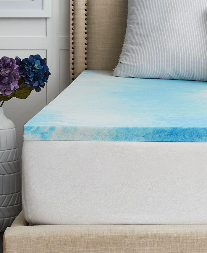 """Sealy - 1.5"""" Chill™ Gel Memory Foam Mattress Topper , Twin XL"""