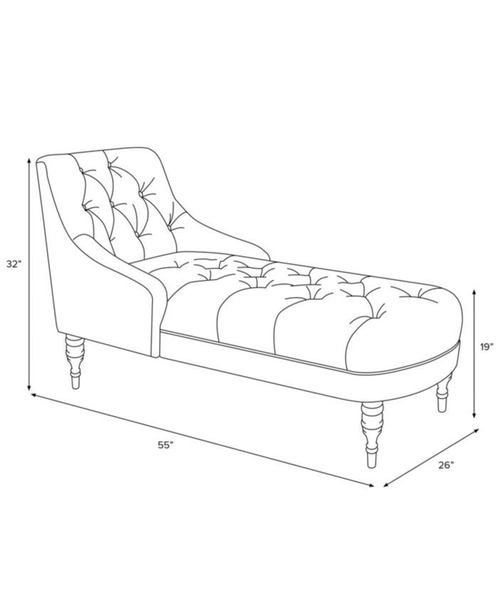 Skyline Karena Tufted Slope Arm Velvet Chaise & Reviews - Chairs - Furniture - Macy's