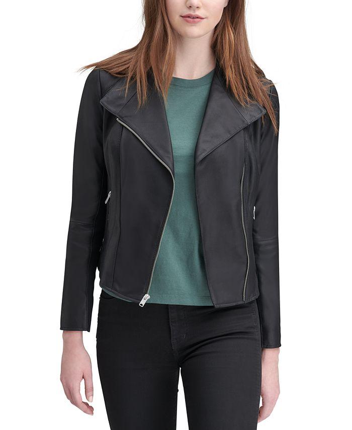 Marc New York - New York Felix Leather Knit-Panel Moto Jacket