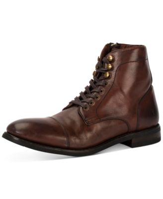 Ben Cap-Toe Leather Lace-Up Boots