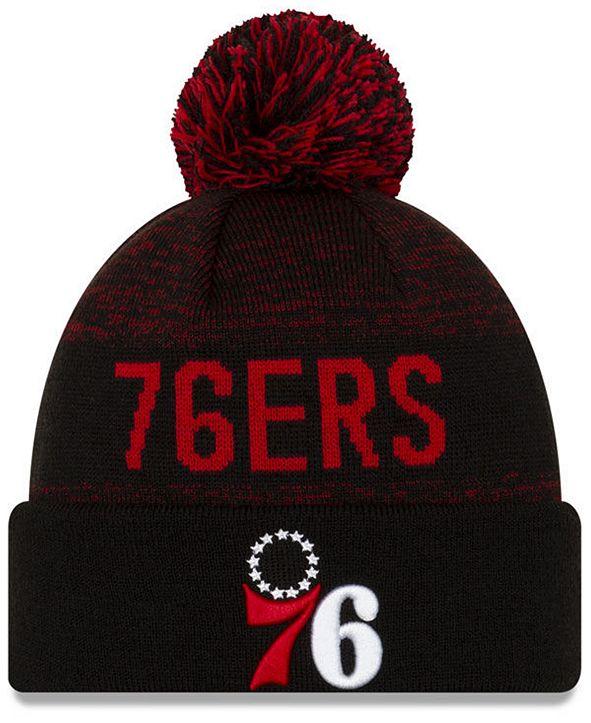 New Era Philadelphia 76ers Blackout Speckle Knit Hat