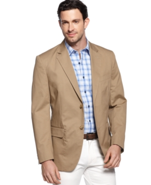 Tasso Elba Big and Tall Cotton Twill Core Blazer $74.99 AT vintagedancer.com