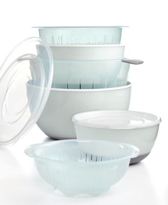 OXO Covered Nesting Bowl & Colander Set, 9 Piece