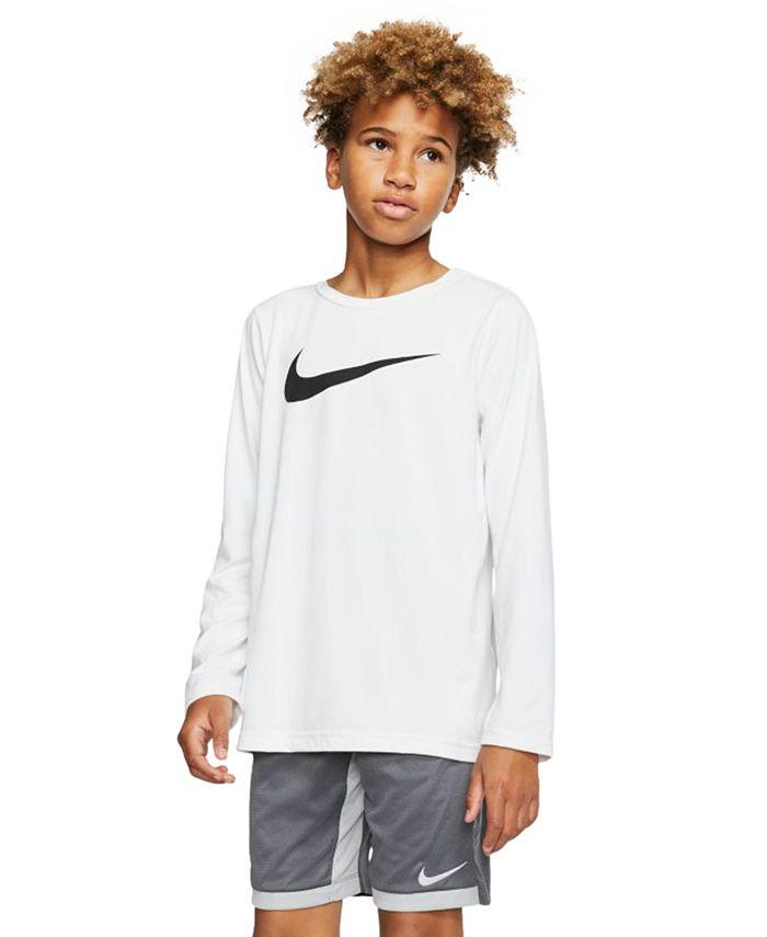 Nike - Big Boys Dri-FIT Swoosh Long-Sleeve T-Shirt