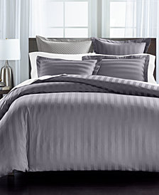 """Charter Club Damask 1.5"""" Stripe Supima Cotton 550-Thread Count 3-Pc. Full/Queen Duvet Cover Set, Created for Macy's"""