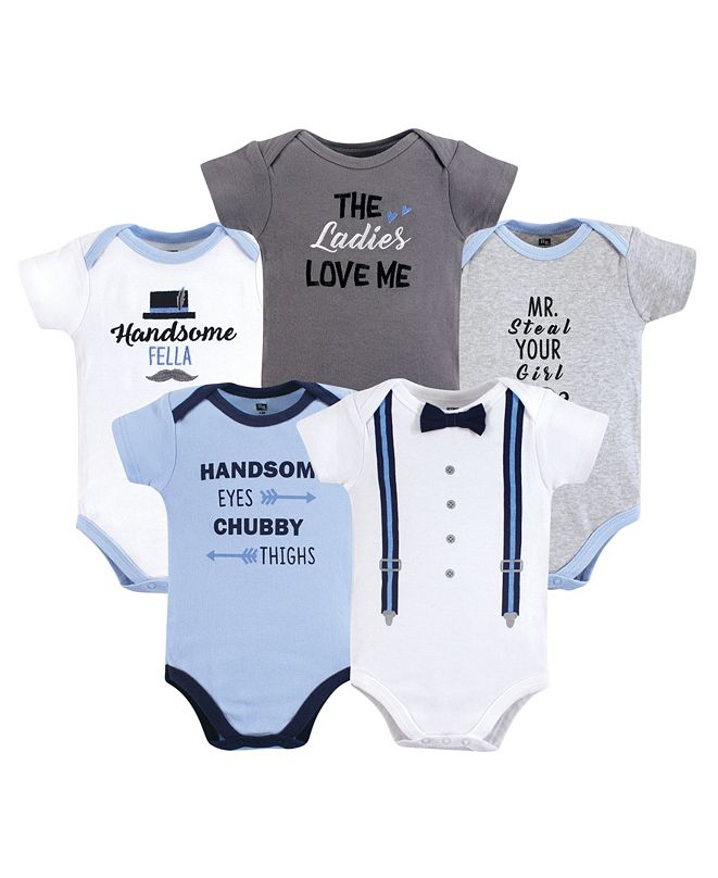 Hudson Baby Baby Boy Cotton Bodysuit, Pants and Shoes Set