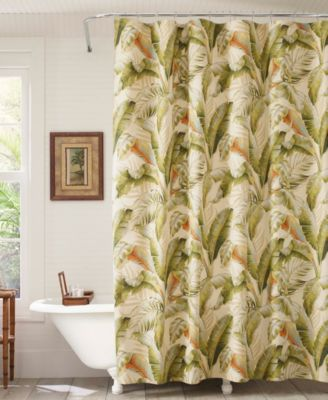 Palmiers 100% Cotton Stall Shower Curtain