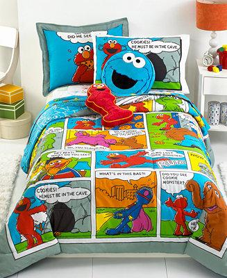 Closeout Jay Franco Sesame Street Comic Comforter Sets