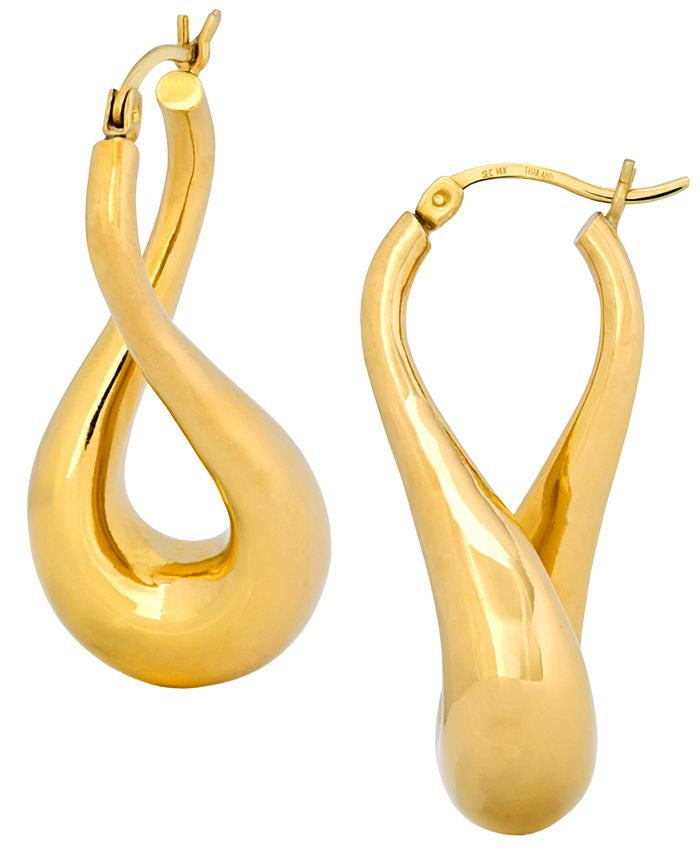 Signature Gold - Twist Hoop Earrings in 14k Gold