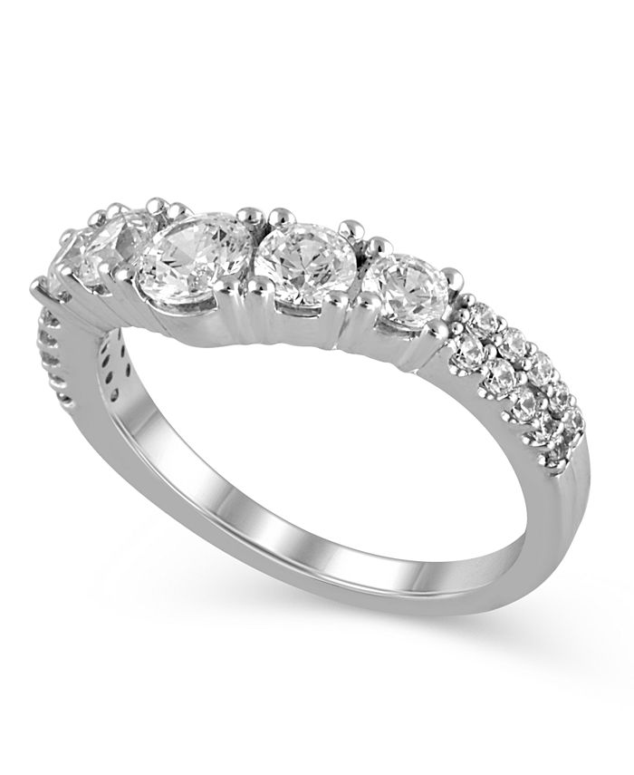 Macy's - Certified Diamond (1-1/4 ct. t.w.) Contour Band in 14K White Gold