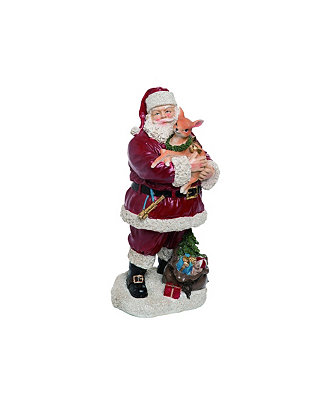 Trans Pac Resin Red Christmas Santa With Deer Figurine Reviews Shop All Holiday Home Macy S