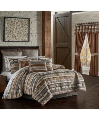 J Queen Timber Linen Queen 4 Piece Comforter Set