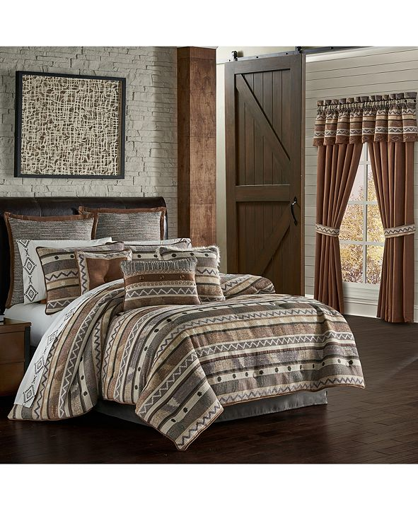 J Queen New York J Queen Timber Linen Queen 4 Piece Comforter Set