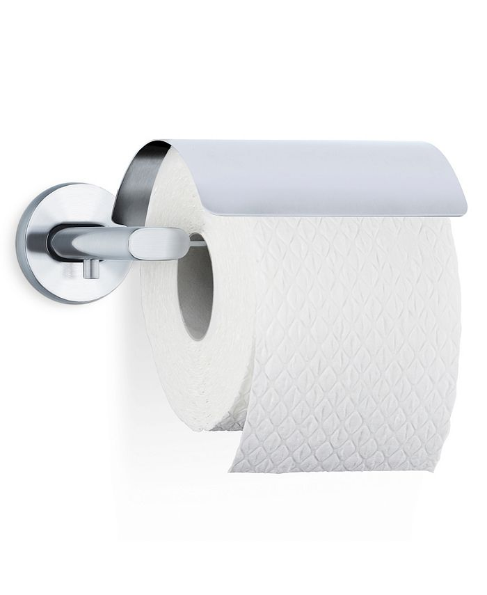 blomus - Wall Mounted Toilet Paper Holder With Cover - Areo