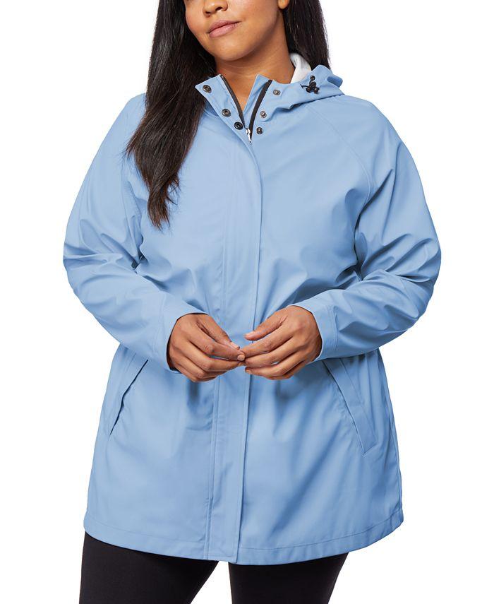 32 Degrees - Plus Size Hooded Raincoat