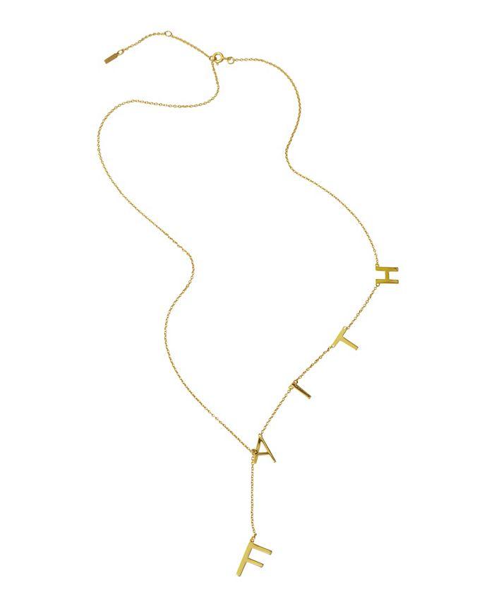 ADORNIA - Faith Lariat Necklace