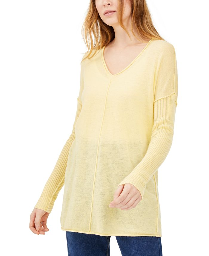 INC International Concepts - Ribbed Long-Sleeve Tunic Sweater