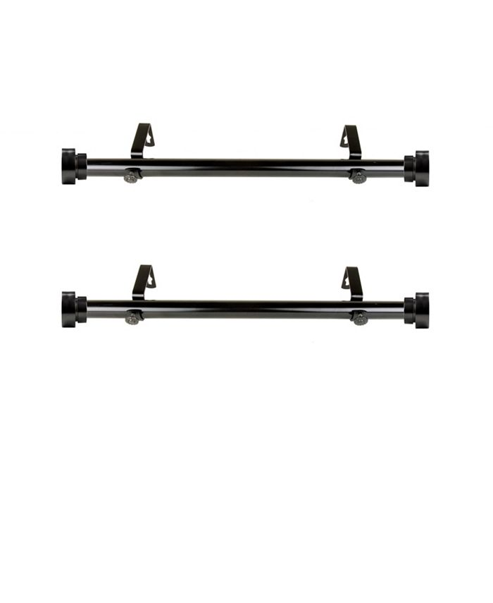 "Rod Desyne - 1"" Side Curtain Rod 12-20 inch (Set of 2)"