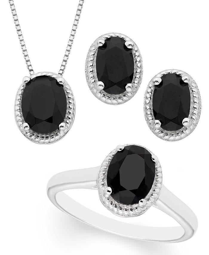 Macy's - Black Onyx 3- Piece Set in Sterling Silver