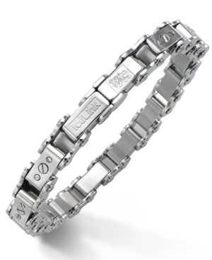 IceLink - Stainless Steel Bracelet, Medium Bicycle Bracelet