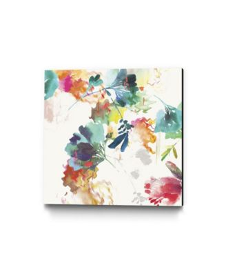 """30"""" x 30"""" Glitchy Floral II Museum Mounted Canvas Print"""