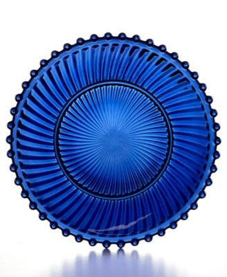Martha Stewart Collection Cobalt Glass Dessert Plate