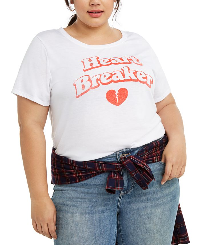 Modern Lux - Trendy Plus Size Heartbreaker Graphic T-Shirt