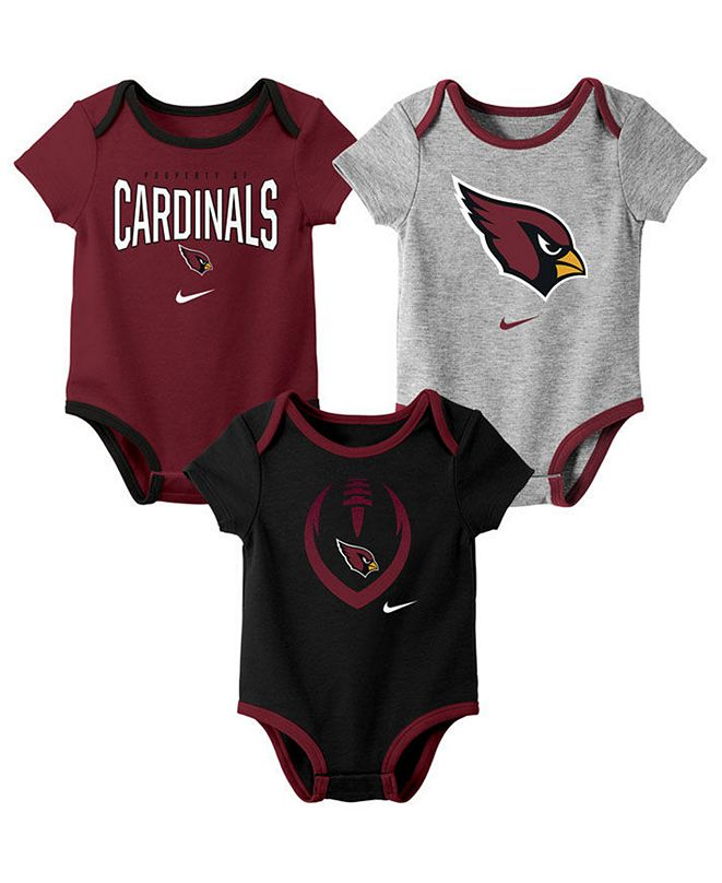 Nike Baby Arizona Cardinals Icon 3 Pack Bodysuit Set