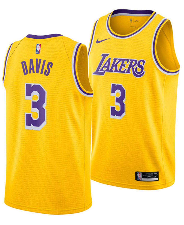 Nike Men's Anthony Davis Los Angeles Lakers Icon Swingman Jersey & Reviews - Sports Fan Shop By Lids - Men - Macy's