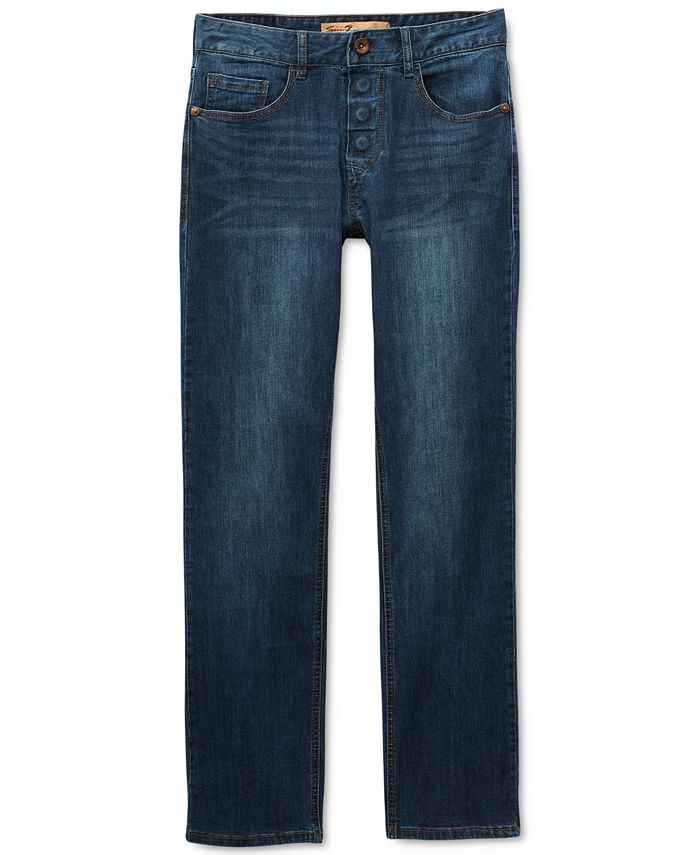Seven7 - Men's Sarrant Classic-Fit Power Stretch Jeans with Magnetic Fly and Stay-Put Closure