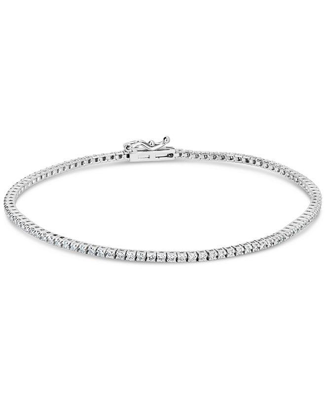 Macy's IGI Certified Diamond Tennis Bracelet (1 ct. t.w.) in 14k WhiteGold