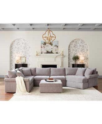 Wedport 3-Pc. Fabric Sectional Sofa with Armless Apartment Sofa and Cuddler, Created for Macy's