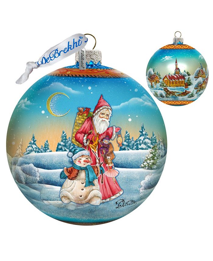G Debrekht Limited Edition Oversized Winter Village Christmas Ball Glass Ornament Reviews Shop All Holiday Home Macy S