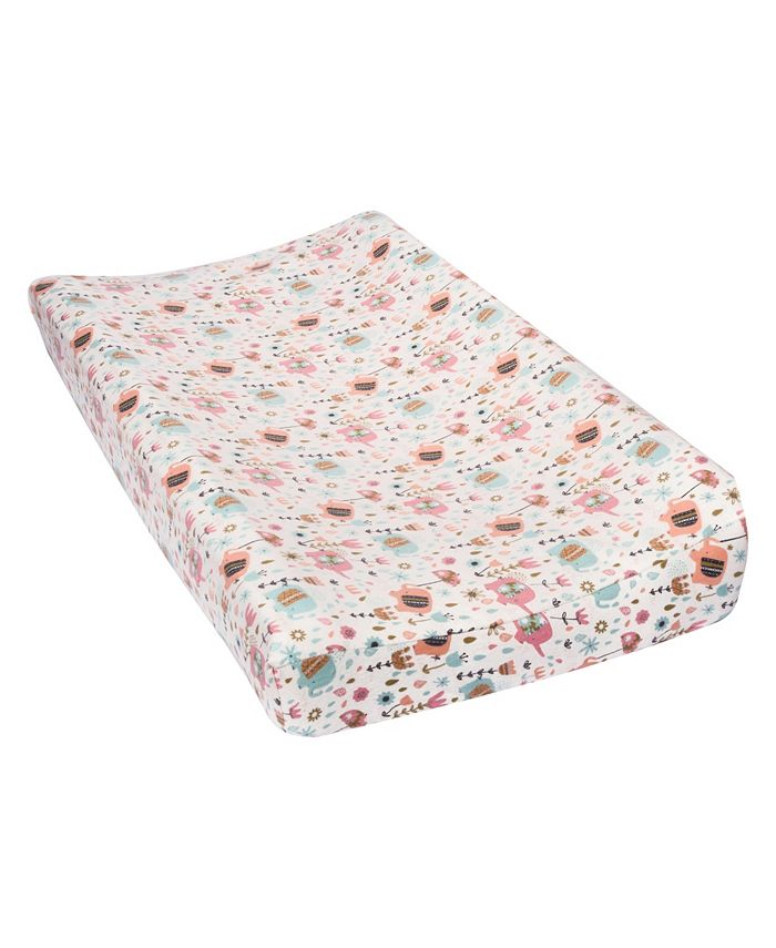 Trend Lab - Playful Elephants Flannel Changing Pad Cover