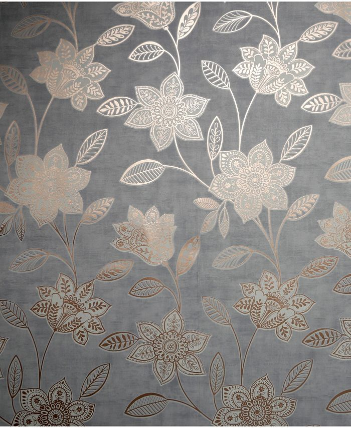 Graham & Brown - Fiorella Taupe Wallpaper