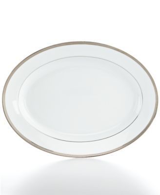 "Charter Club Dinnerware, 15.5"" Grand Buffet Platinum Platter"