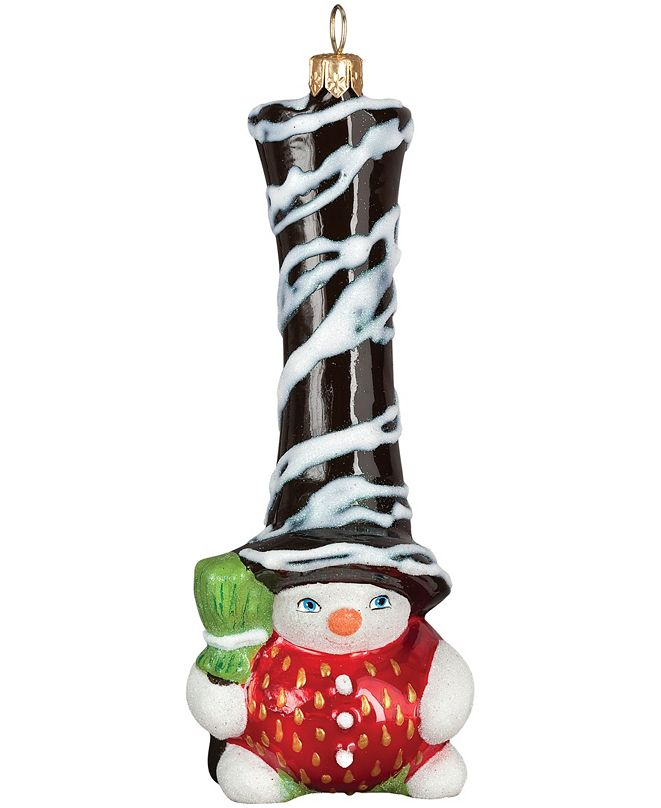Joy to the World Glitterazzi Chocolate Covered Strawberry Gnome Snowman