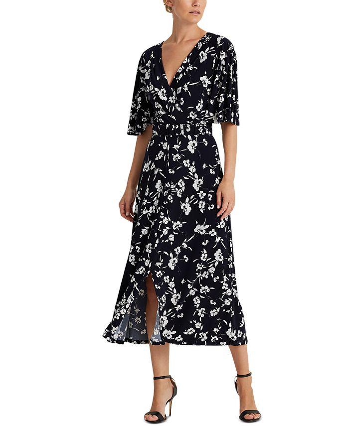 Lauren Ralph Lauren - Floral Belted Jersey Dress