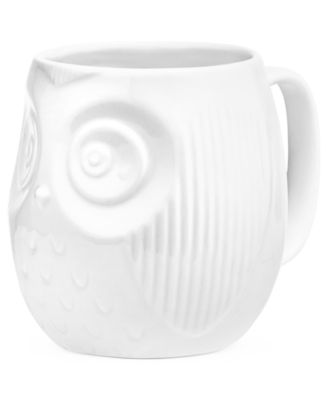 The Cellar Whiteware Figural Owl Mug