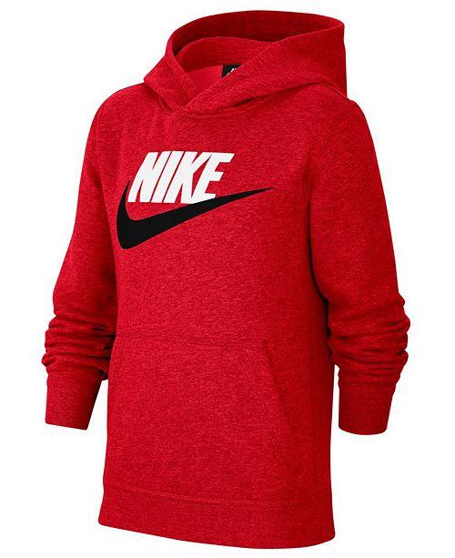 Nike Big Boys Club Fleece Sportswear Pullover Hoodie ...