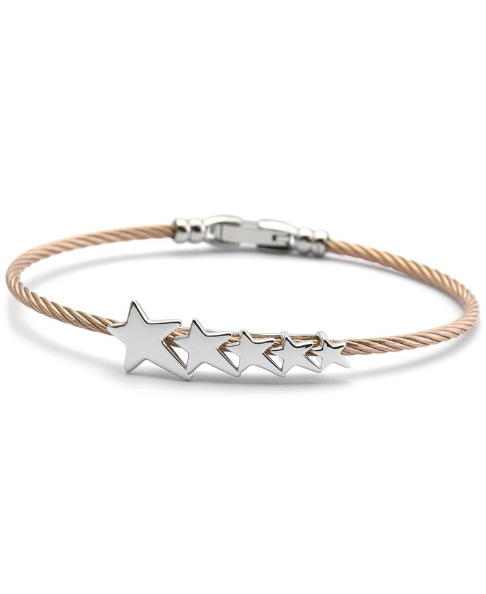 CHARRIOL - Star Cable Bangle Bracelet in Stainless Steel & Rose Gold-Tone PVD