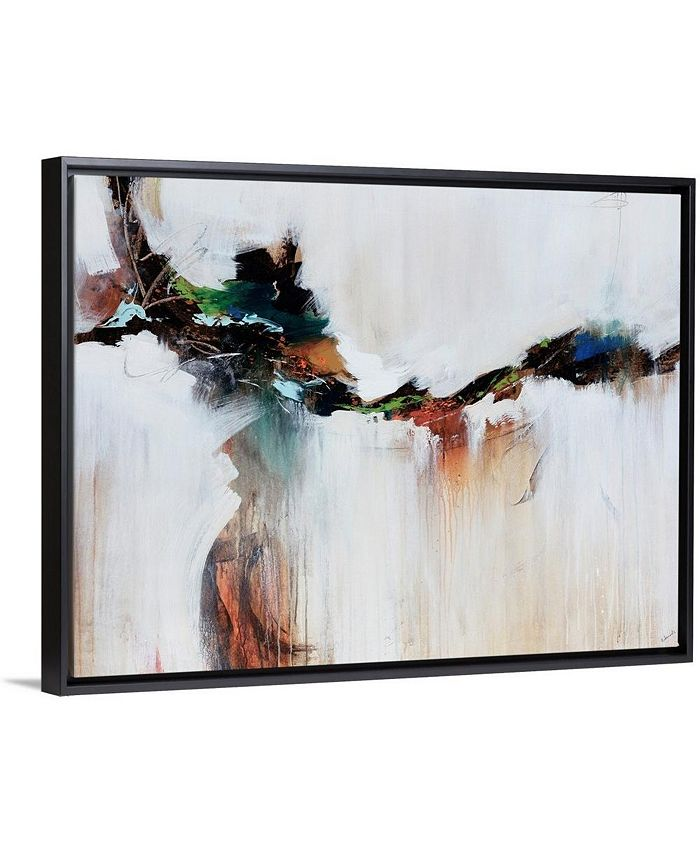 "GreatBigCanvas - 24 in. x 18 in. ""Azure Jazz"" by  Sydney Edmunds Canvas Wall Art"