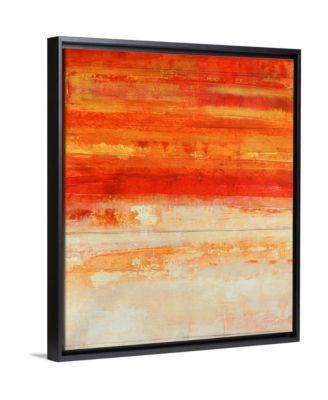 "'Crimson Skies' Framed Canvas Wall Art, 20"" x 24"""