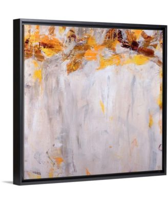 """'Beethoven in Yellow' Framed Canvas Wall Art, 16"""" x 16"""""""