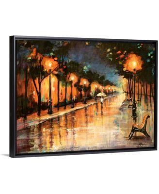 "24 in. x 18 in. ""Halos In The Rain"" by  Farrell Douglass Canvas Wall Art"