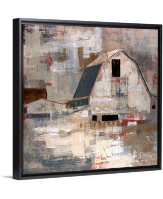 "'Early Americana' Framed Canvas Wall Art, 16"" x 16"""