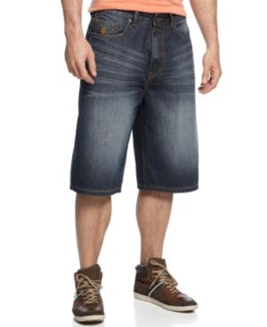 Rocawear Shorts Dark Wash Denim Shorts