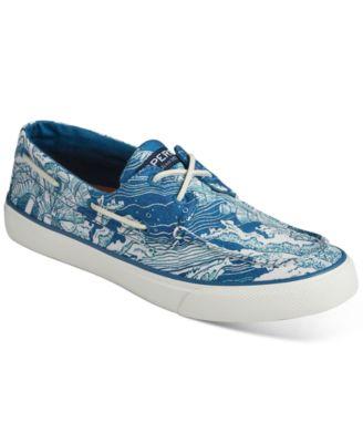 Bahama Coral Print Boat Shoes