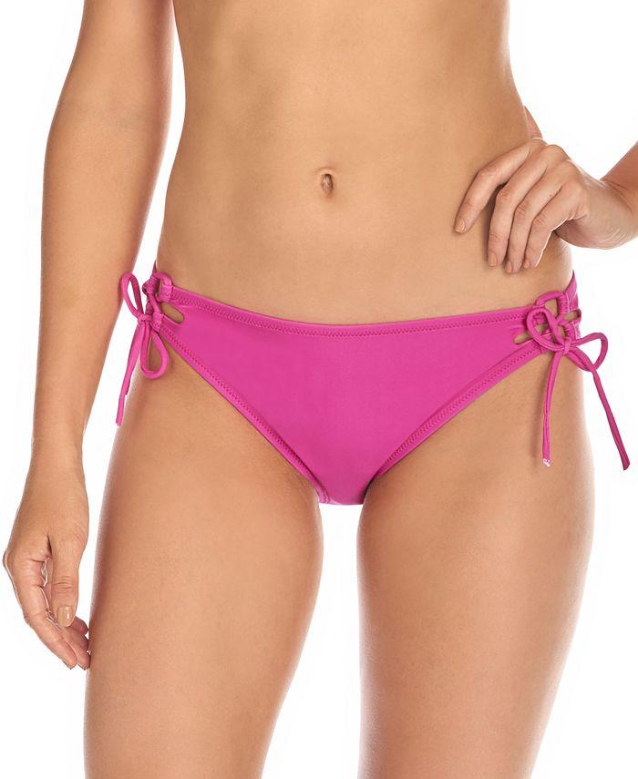Raisins - Juniors' Seychelles Solids Sweet Side-Tie Hipster Bikini Bottoms