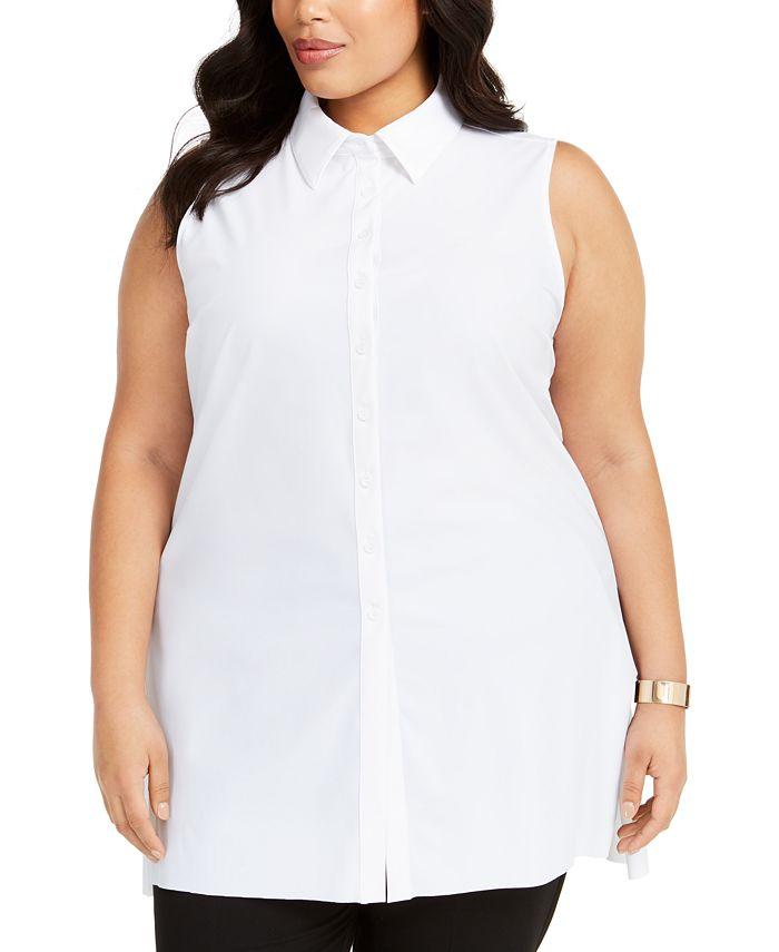 Alfani - Plus Size Sleeveless Blouse